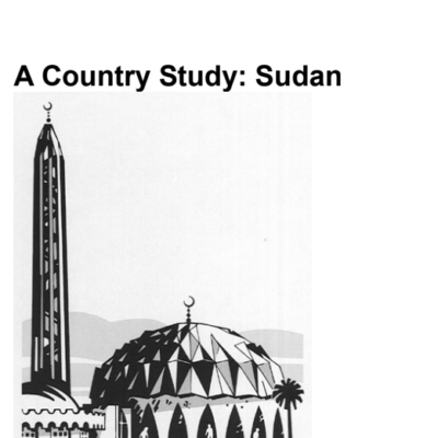 A country study-sudan