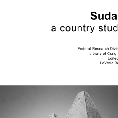 sudan a country study